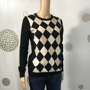 Banana Republic Cashmere Argyle Sweater S